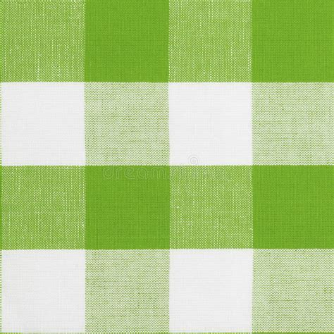 Green Seamless Pattern Of Gingham Tablecloth Stock Image