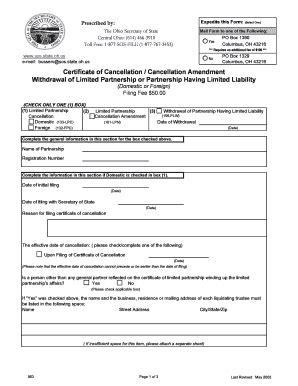 secretary  state ohio form  fill  printable