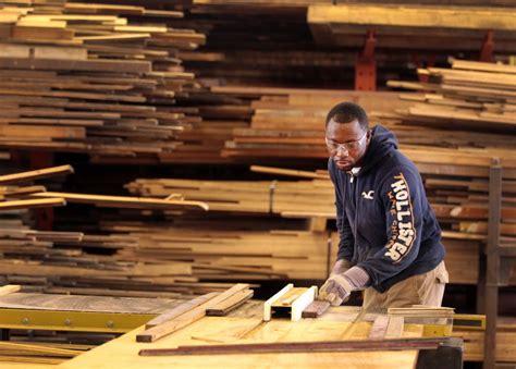 making furniture   torn  houses  materials