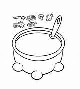 Coloring Soup Pumpkin Pot Printable Visit Alphabet sketch template