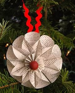 Blumen Aus Papier : weihnachtsdeko selber basteln aus papier mit anleitung ~ Udekor.club Haus und Dekorationen