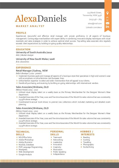 It uses just the right amount of orange to make your cv stand out, while still. Orange 3 in 1 modern ribbon resume | Modern words, Modern ...