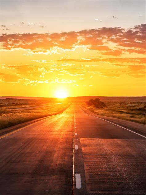 wallpaper sunset highway  world  wallpaper