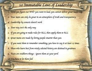 "10 Immutable Laws Of Leadership  Terry ""starbucker"" St Marie"