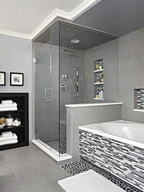 Badezimmer Modern Grau Weiß by 120 Moderne Designs Glaswand Dusche Archzine Net