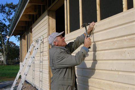 pose de bardage exterieur bardage ext 233 rieur d une maison ossature bois maisons ossature bois en kit tiro