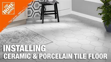 installing ceramic  porcelain floor tile step  plan