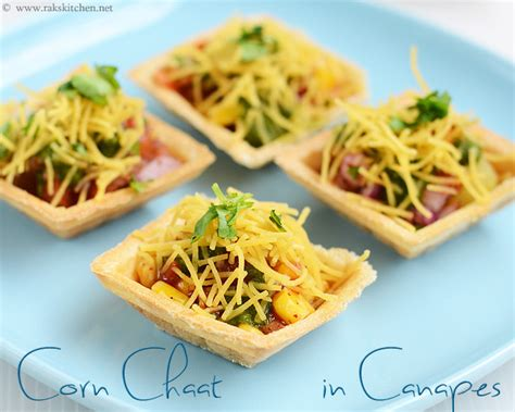 indian canape canapes chaat canape chaat recipe raks kitchen