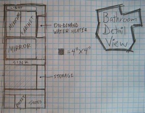 bathroom floor plans 8x8 8x8 tiny house design by anthony