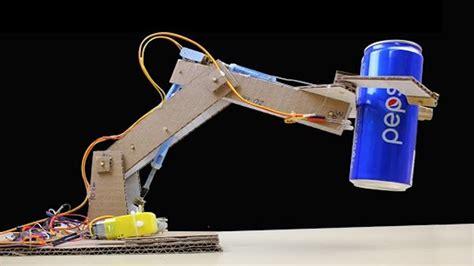 rc robotic arm  cardboard  dc motor simple jcb hydraulic mini excavator youtube