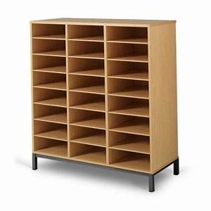 Meuble casier 24 cases mobilier maternelle mobilier for Meuble casier