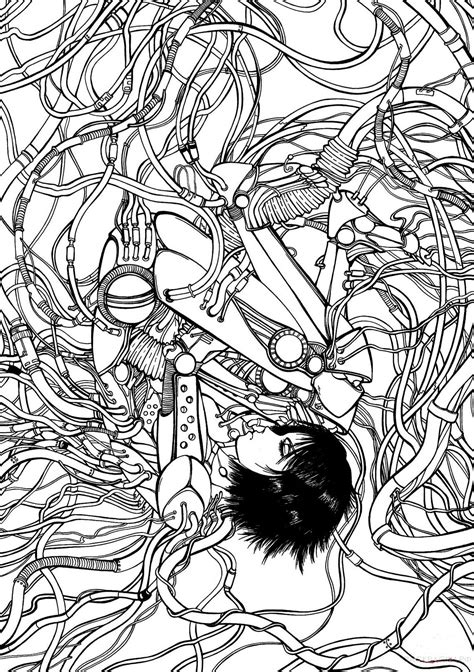 antistress anime coloring pages    print