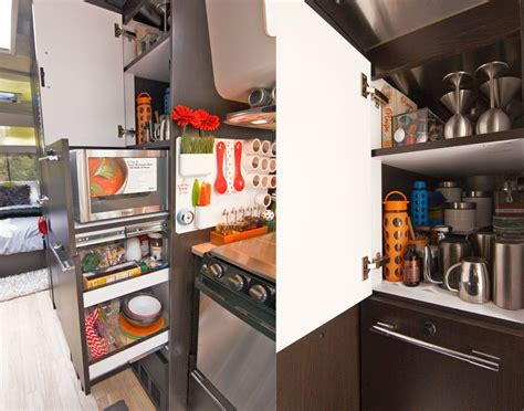 rv kitchen storage airstream kitchen organization awesomeness trailer 2080