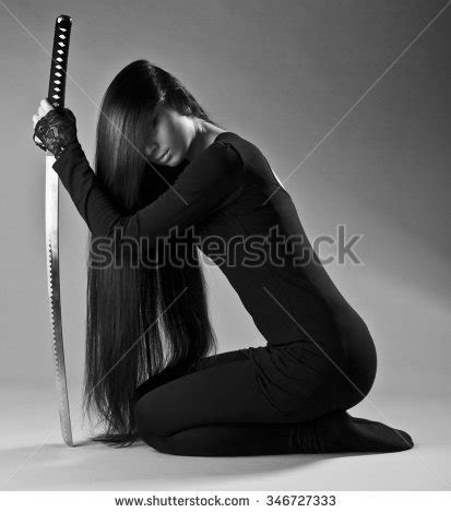 Fighter With Anime And Style Isolated On Black Background Katana Stock Images Royalty Free Images Vectors
