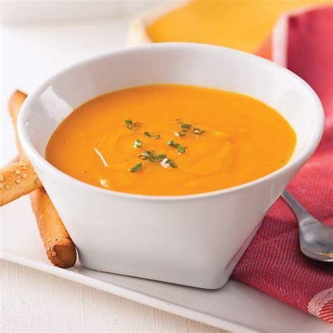 cuisine carotte crème de carottes patates douces et gingembre recettes