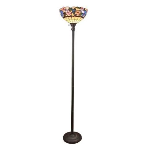 torchiere floor l home depot amora lighting 70 in tiffany style hummingbirds floral