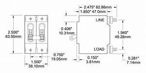 Blue Sea Systems 7365 Double Pole Circuit Breaker 30 Amps