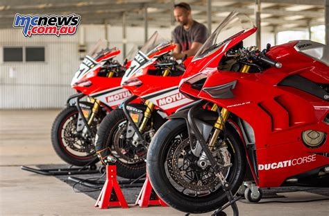 Ducati Panigale V4r by Troy Bayliss Tests Ducati Panigale V4r At Park