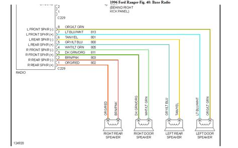 96 Ranger Radio Wire Harness..speaker Wir Colors On Plug