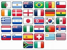 World Cup 2010 Flag Buttons Stock Illustration