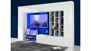 Meuble Tv Complet : meuble tv mural design collection petra eclairage led en ~ Teatrodelosmanantiales.com Idées de Décoration