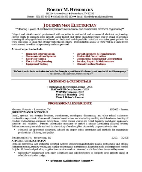 resume sles for electrical engineer pdf