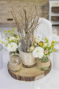 Centre De Table Champetre : 22 id es de d corations de mariage champ tre faire soi ~ Melissatoandfro.com Idées de Décoration