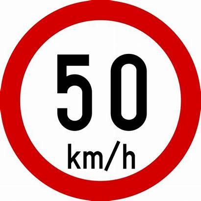 Sign Road Ireland Svg Km Speed Limit
