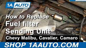 How To Install Replace Fuel Filter Chevy Malibu Cavalier Camaro More 1aauto Com