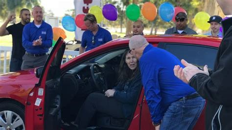 car donations for single mothers veteran single receives car donation