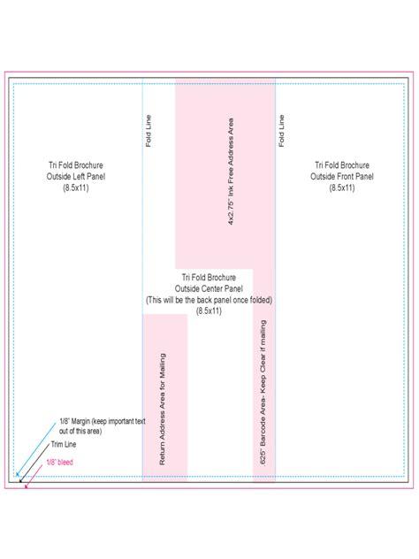Tri Fold Outside Centre Panel Template Free Brochure Template 78 Free Templates In Pdf Word Excel