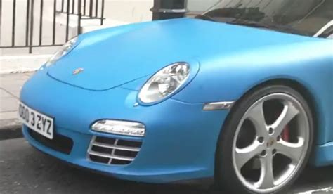 matte blue porsche video matte blue porsche 997 carrera mk2 gtspirit