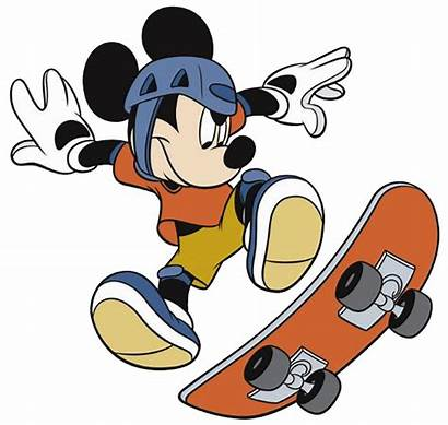 Mickey Mouse Skate Clipart Clubhouse Transparent Skateboard