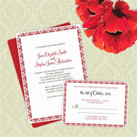 FREEDownloads Floral Scallop Border Invitation and