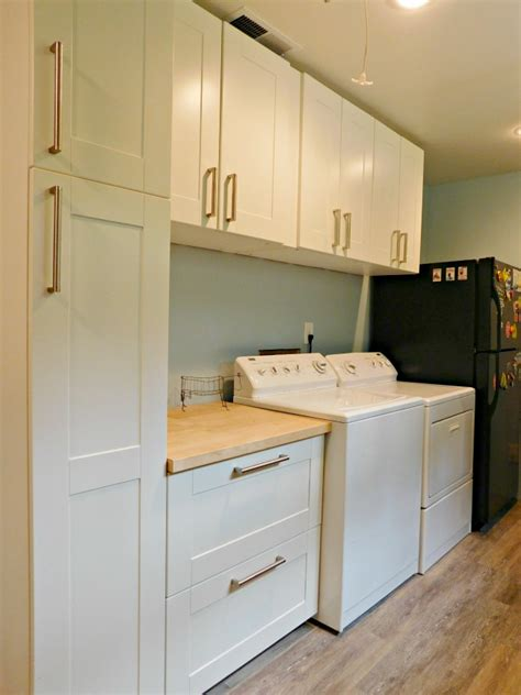 Kitchen Cabinet Renovation Ideas - ikea sektion laundry room remodel and the river rose