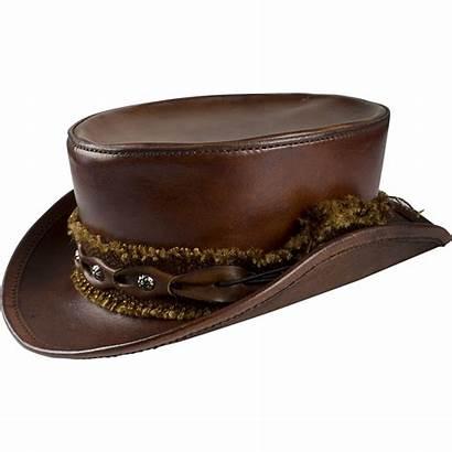 Hat Leather Brown Steampunk Mens Hatter Victorian