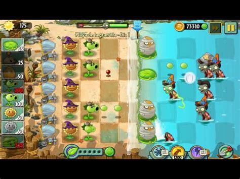 plants vs zombies 2 playa de la gran ola d 237 a 1 espa 241 ol