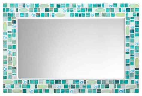 Blue Mosaic Bathroom Mirror by Mosaic Wall Mirror Teal Green Blue Handmade 30 Quot X