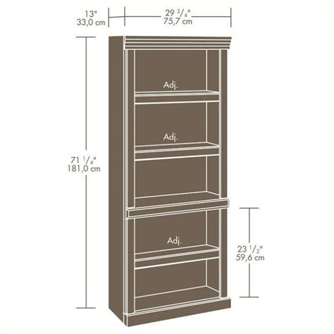 sauder heritage hill bookcase sauder heritage hill 5 shelves bookcase in classic cherry