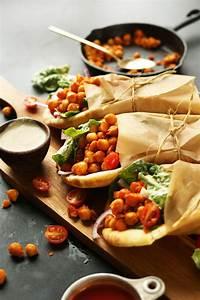 Spicy Buffalo Chickpea Wraps | Minimalist Baker Recipes  Healthy