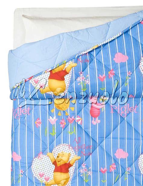 trapunta disney  cotone letto singolo winnie  pooh