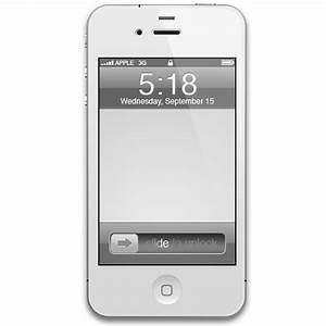 iPhone 4 White Icon - iPhone 4 White Icons - SoftIcons.com