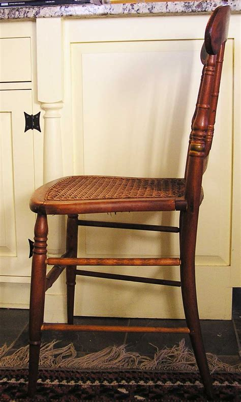 a spindle back stenciled cottage side chair c 1860 1875