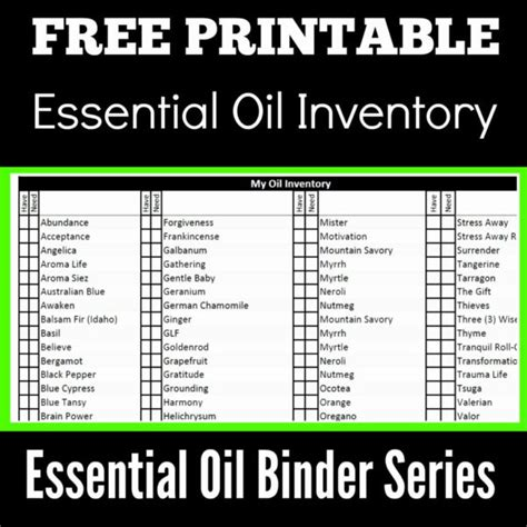 essential oil inventory spreadsheet payment spreadshee