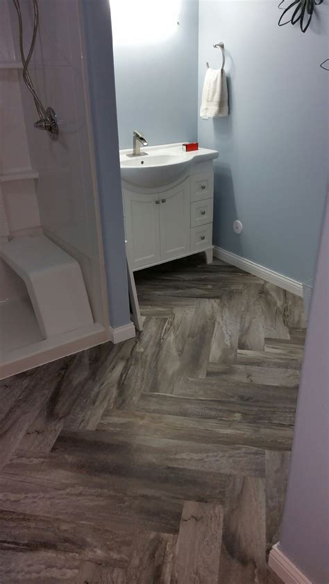 luxury vinyl planking  stone   grout