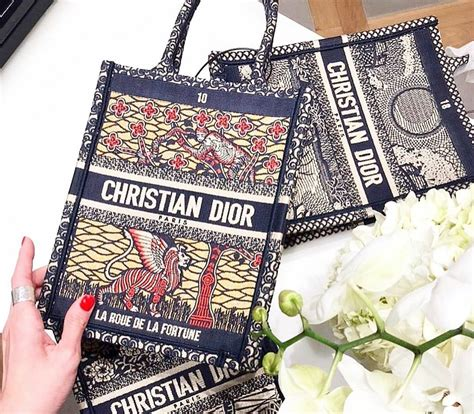 dior vertical book tote bag  cruise  spotted fashion