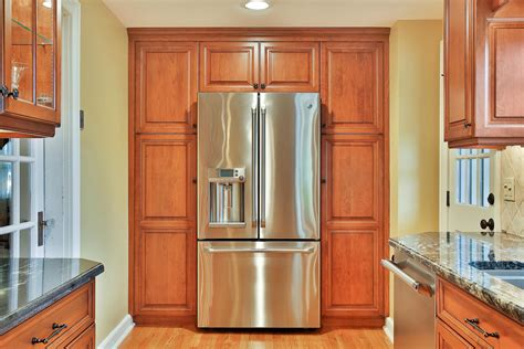 If you don't give the cabinet 5 of space, you won't be able to open. Custom Cherry Cabinet Kitchen Manasquan New Jersey by ...