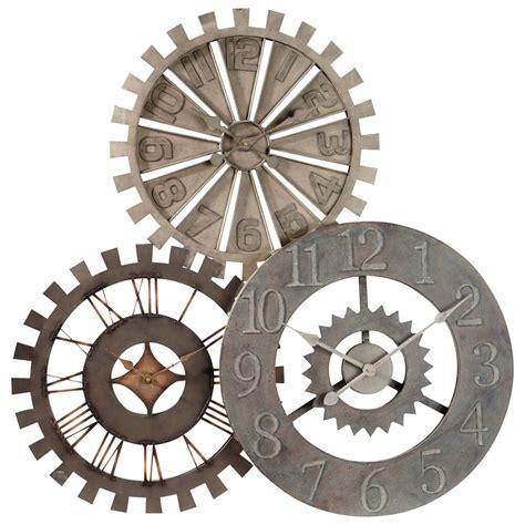 horloge de cuisine originale horloge en métal d 92 cm rouages maisons du monde