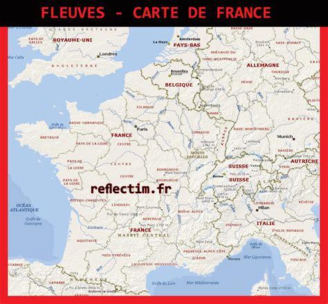 Carte De Avec Fleuves Et Rivières by Carte De Fleuves