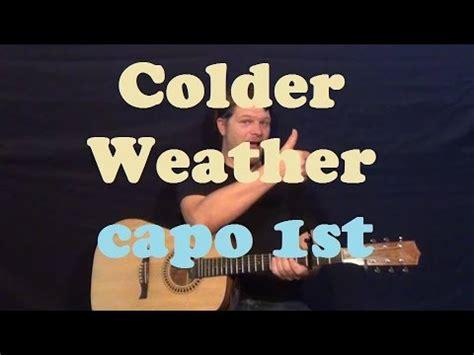 Colder weather guitar lesson
